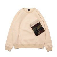 APPLEBUM 2020408 BOA POCKET CREW SWEAT [SAND] - 2020408