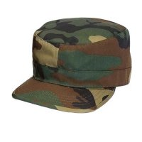 MILITARY FATIGUE CAP (WOODLAND) - ワークキャップ
