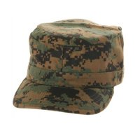 MILITARY FATIGUE CAP (WOODLANDDEGITALCAMO) - ワークキャップ