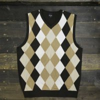 [CLEARANCE SALE/半額!!50%OFF!!]Argyll Vest [DarkBrown/LightBrown/Sand/White]