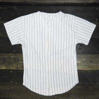 BASEBALL JERSEY SHIRTS[WHITE/BLACK STRIPE]  - ベースボールシャツ プリント対応