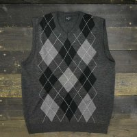 [CLEARANCE SALE/半額!!50%OFF!!]Argyll Vest [Black/Gray/White]