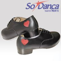 SO DANCA TA815 WOMEN'S TA/LEATHR & HEARTS