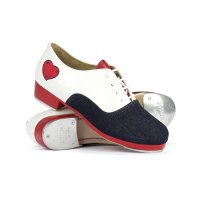 SO DANCA CUSTOM RONXII MODEL TA815 WOMEN'S TA/SUEDE & HEARTS