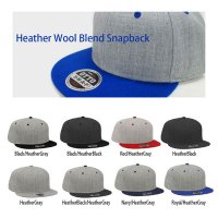 OTTO HEATHER WOOL BLEND SNAPBACK