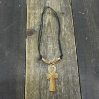 ANKH NECKLACE [WOOD]