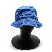 COBRA BKT-D BUCKET DENIM WASHED CAP (INDIGO) - バケットハット