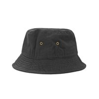 [ NEWHATTAN ] PLAIN BACKET HAT (BLACK) - バケットハット