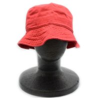 [SUPER SALE/半額]NEWHATTAN PLAIN BACKET HAT (RED) - バケットハット