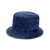 [ NEWHATTAN ] PLAIN BACKET HAT (NAVY) - バケットハット
