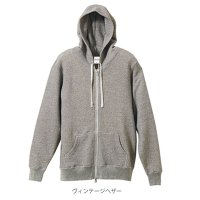 [ UNITED ATHLE ] 8.4OZ FINE FRENCH TERRY FULL ZIP UP  PARKA - ファイン フレンチテリー フルジップ パーカ