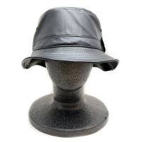 PIT BULL LEATHER BUCKET HAT (BLACK) - バケットハット