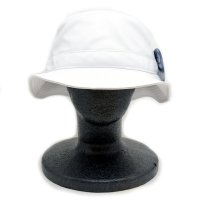 [ PIT BULL ] LEATHER BUCKET HAT (WHITE) - バケットハット