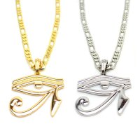 EYE OF HORUS FIGALO CHAIN NECKLACE 61cm