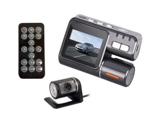HD720P デュアルレンズ(リアカメラ・リモコン付き)多機能 ドライブレコーダー