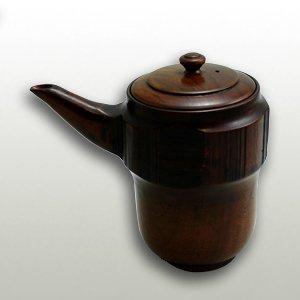 天然木すり漆内朱塗り酒器(トチ材)