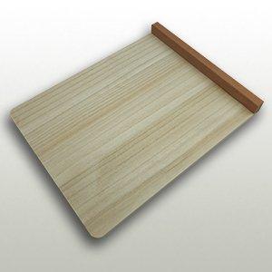 桐の本体とマホガニーの立ちの小間板 巾240mm・奥300mm・高24mm
