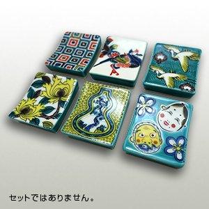 九谷焼 箸置き「石畳」「鳳凰」「鶴」「ぼたん」「瓢箪」「ひょっとこおかめ」