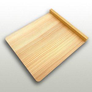 杉の本体と欅の立ちの小間板 巾260mm・奥300mm・高27mm