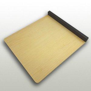 檜の本体と黒檀の立ちの小間板 巾270mm・奥300mm・高27mm