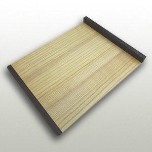 桐の本体と黒檀の立ちの小間板 巾290mm・奥365mm・高27mm