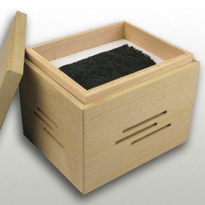 本杉柾目クリアコーティング仕上げ 焼き海苔箱(炭別売り)