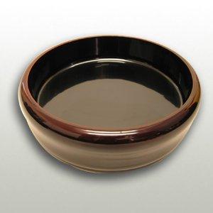 木製クリ物溜塗うるしマユ型盛鉢