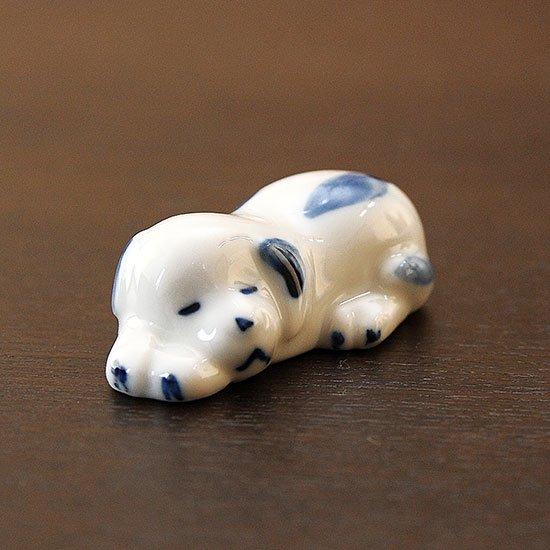 染付眠り犬(ブルー)の箸置き