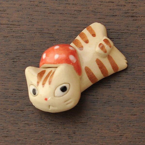 手造り どろぼう猫の箸置き 水玉
