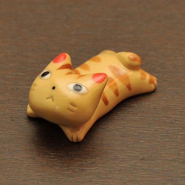 手造り 茶トラ猫の箸置き