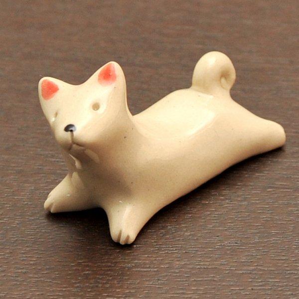 手造り 柴犬(ホワイト)の箸置き