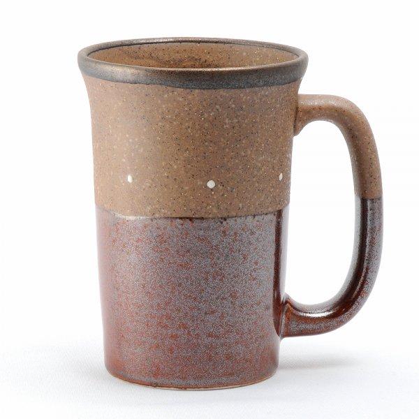 雲陶園 セパレートカラー ビールジョッキ ドットブラウン