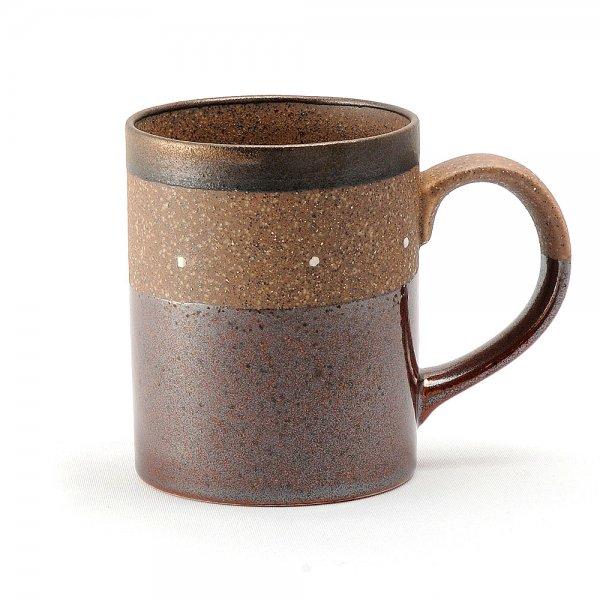 雲陶園 セパレートカラー マグカップ ドットブラウン