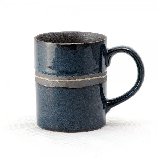 雲陶園 セパレートカラー マグカップ ラインブルー