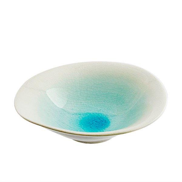 雲陶園 しずく結晶 24cm変形平鉢
