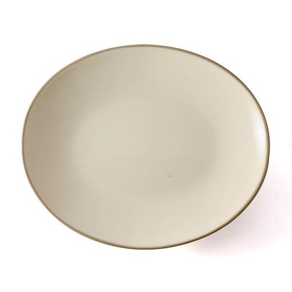 雲陶園 23cmオーバルプレート アイシーホワイト