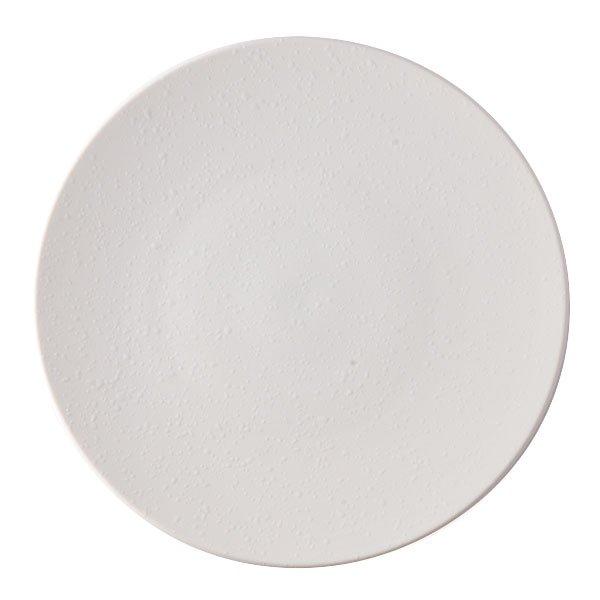雲陶園 22cmオイルドロッププレート マットホワイト