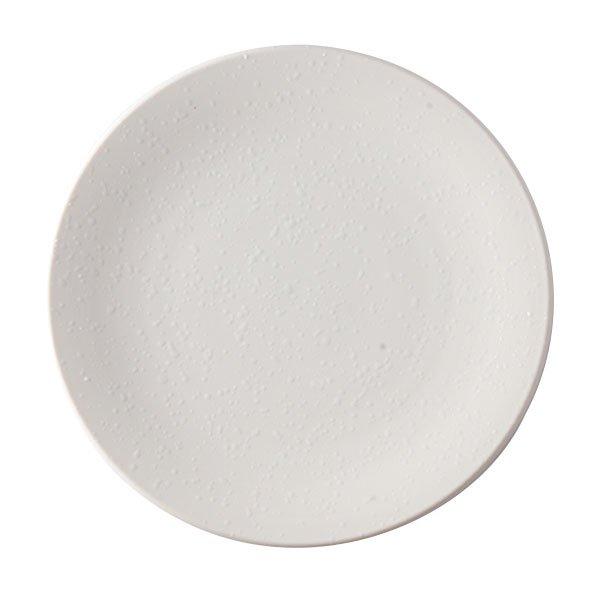 雲陶園 19cmオイルドロッププレート マットホワイト