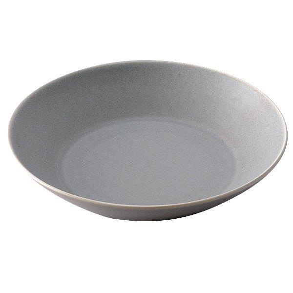 雲陶園 19.5cmディーププレート スモーキーグレー