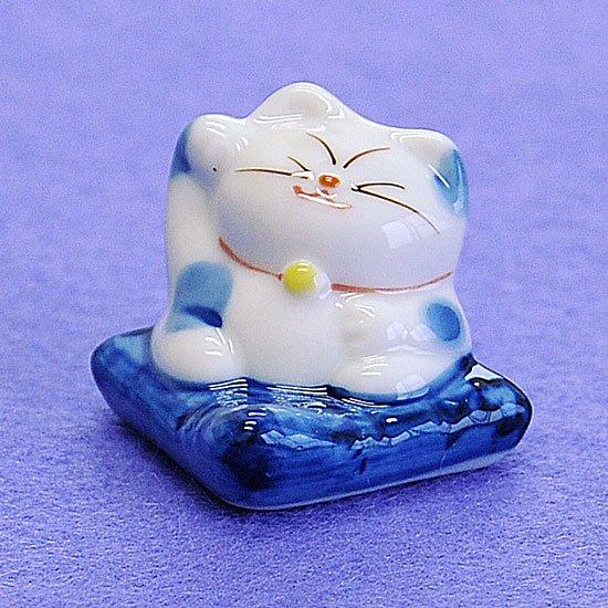 招き猫(青)箸置き