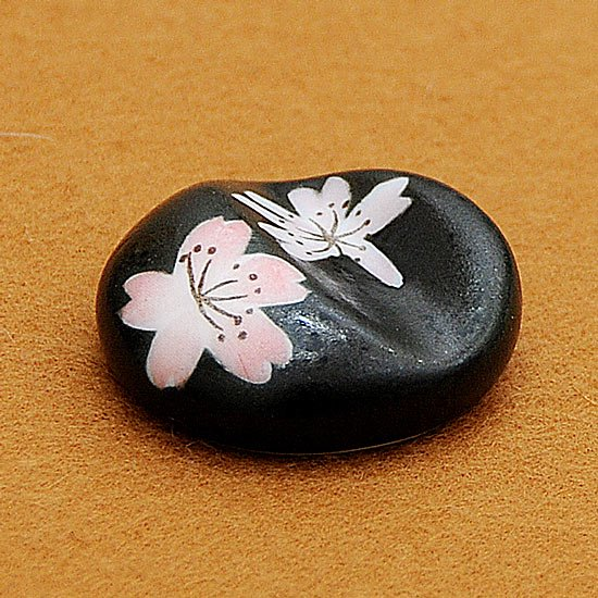 丸凹み(夜桜)箸置き
