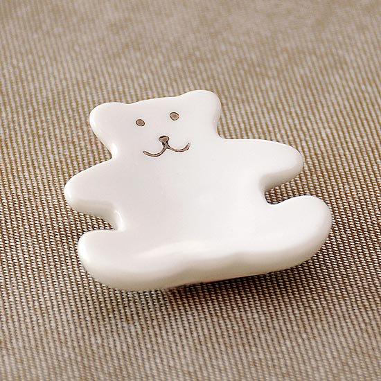 白マットクマの箸置き