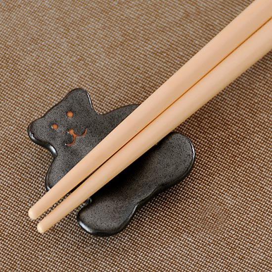 黒マットクマの箸置き