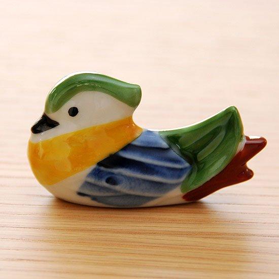 錦 オシドリ(グリーン)の箸置き