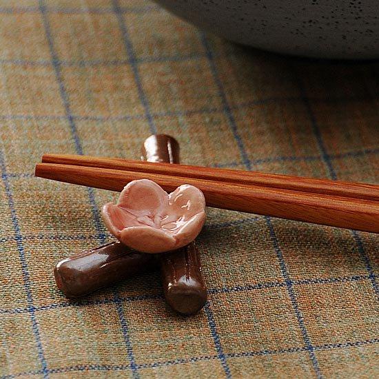 枝梅 ピンク箸置き