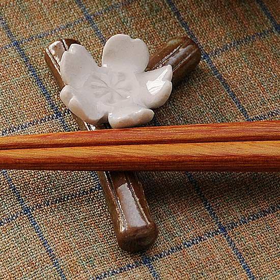 枝桜 白箸置き