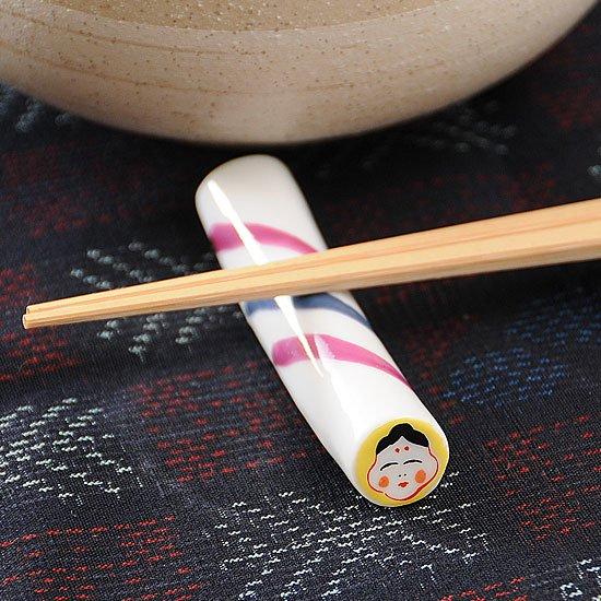 金太郎飴(おかめ)箸置き