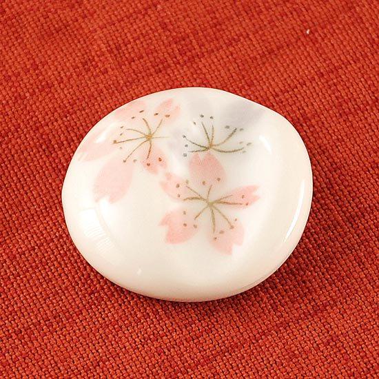丸凹み 白桜 箸置き