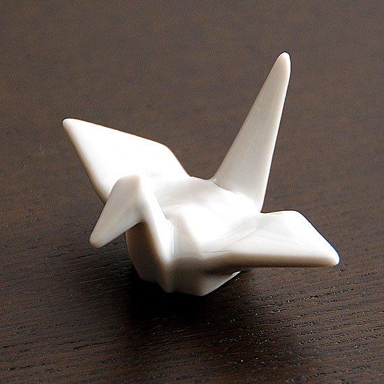 折り鶴(白)箸置き