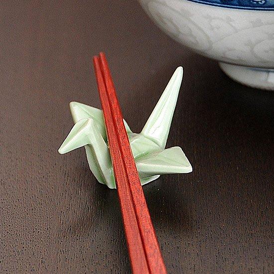 折り鶴(グリーン)箸置き